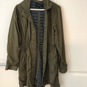 Hooded J crew utility  jacket